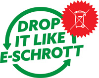"Logo ""Drop it like E-Schrott"""